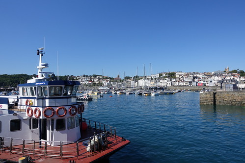 Herm Trident V in St Peter Port Harbour