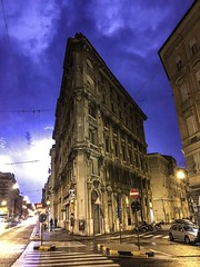 While walking around in Trieste at night, the lightning struck and i got it on cam!
