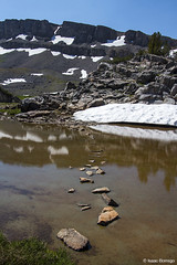 Stepping Stones (isaac.borrego) Tags: uploadedviaflickrqcom mountain peak alpine alaskabasin grandteton nationalpark wyoming canonrebelt4i reflections jacksonhole mountains unitedstates america usa