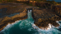 Channel Wash (Crouchy69) Tags: sunrise dawn landscape seascape ocean sea water coast rocks drone mavic aerial bombo quarry kiama nsw australia