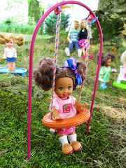 At the Park (flores272) Tags: aakelly aabarbie blackkelly doll dolls toy toys outdoors children chelseadoll