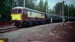 73101 (dave hudspeth photography) Tags: railway train nostalga diesel track transport britishrail iconic davehudspethgrey red blue gner crewe york newcastle