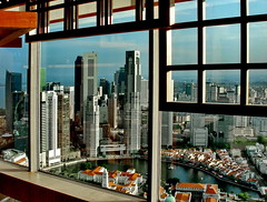 Singapore Stamford Hotel, 70th floor (gerard eder) Tags: world travel reise viajes asia southeastasia singapore hotel skyline skycraper city ciudades cityscape cityview städte stadtlandschaft windows panorama outlook