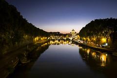 Roma_38 (serdor) Tags: roma capitale italia notturno paesaggio colori cupolone sanpietro tevere lazio digitale fujifilm xe1