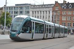 NET Tram 216 - Nottingham (dwb transport photos) Tags: net nottinghamexpresstransitalstomcitadistram216dame laura knight nottingham