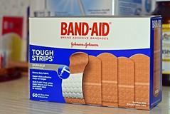 Band Aid Brand! (Identification) (✿✿76'F & Sunny Today..Nice!✿✿) Tags: theflickrlounge wk40 wordsletters identifying representing bandaids box pictire blue red johnsonandjohnson brand
