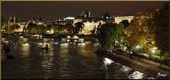 El Sena (París, Francia, 3-10-2009) (Juanje Orío) Tags: parís francia france 2009 nocturna night río river agua water iluminado reflejo reflection barco boat patrimoniodelahumanidad worldheritage whl0600 europeanunion europa europe