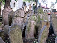 Prague's Old Jewish Cemetery #48 (jimsawthat) Tags: historic urban prague czechrepublic cemetery oldjewishcemetery gravestones