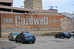 Sam Caldwell & Co., Cincinnati, OH (Robby Virus) Tags: cincinnati ohio oh sam caldwell company co ghost sign signage crosley field painters decorators faded ad advertisement forgotten court walnut parking lot