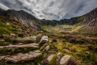 The Devil's kitchen...Cwm Idwal valley.
