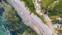 The cliff (Ellen van den Doel) Tags: normandie mavic natuur normandy sunset landscape juli water abstract outdoor zomer aerial evening holiday vakantie zonsondergang nature summer 2017 beach landschap strand kust frankrijk drone pro france sea coast cliff dji yport fr
