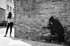 Projection (Luis Alvarez Marra) Tags: black white bw monochrome nikon d7000 prime 24mm england london camden market outdoor decisive moment collecting soul street streettog tog shadow graffitti wall