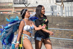 DSC_2717 Notting Hill Caribbean Carnival London Exotic Colourful Costume Showgirl Performer Aug 28 2017 Stunning Lady Blue and White Feather Headdress (photographer695) Tags: notting hill caribbean carnival london exotic colourful costume showgirl performer aug 28 2017 stunning ladies lady blue white feather headdress