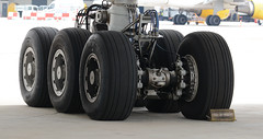 the wheels on a Boeing 777...Explored (Pervez 183A) Tags: wheels landinggear boeing777