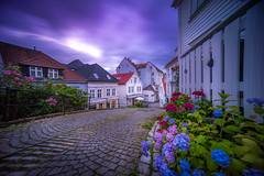 Streets of Bergen, Norway (Paulius Bruzdeilynas) Tags: bergen norway norge norwegian city street oldtown downtown weather sunset summer cloudy sony sonyalpha sonya7ii