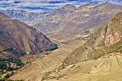 Pisac Incan ruins (somabiswas) Tags: pisac inca ruins landscape peru cusco mountains farming nature