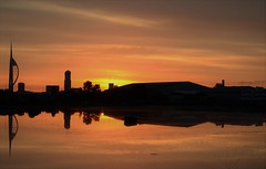 Sunrise over Portsmouth (David R Carter) Tags: sunrise seascape silhouette portsmouth spinnakertower