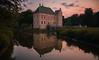 Moated Castle (Explored 7/9/2017) (_Sander V_) Tags: moated castle waterburcht kasteel zonsondergang sunset vorden oranje orange nikon coolpix p7800 water architectuur landschap