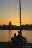 Malaga _ sunset from Muelle Uno (piero.mammino) Tags: malaga spagna spain espana porto harbour muelleuno acqua water sea mare barca boat bicicletta bici bike tramonto sunset cielo sky paesaggio landscape andalusia mediterraneo