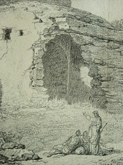 SUVÉE Joseph Benoît - Les Ruines d'un Monument carré, d'une Abside et d'un Acqueduc (drawing, dessin, disegno-Louvre INV32985) - Detail 19 (L'art au présent) Tags: art painter peintre details détail détails detalles drawings dessins dessins18e 18thcenturydrawings dessinsfrançais frenchdrawings peintresfrançais frenchpainters museum paris france ruines ruins stone stones pierre pierres pont bridge acqueduc nature apse fortification édifice building forteresse stronghold fortress croquis étude study sketch sketches antique antiquity ancient antiquités sacred holy blessed figure personnes people femme femmes woman man men