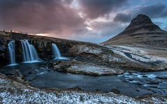 End of the day (Mika Laitinen) Tags: canon5dmarkiv europe iceland kirkjufell kirkjufellsfoss leefilters cloud color dreamscape landscape longexposure mountain outdoors river rock sky snow sunset water waterfall