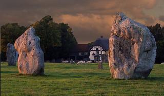 Avebury Stones and the Pub