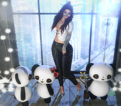 ~Little Panda Family~ (нчρпσκυн aka Nessie Ryan) Tags: i3f whimsical wasabipills uber ncore vision} is noedition messy {yd} secondlife second life secondlifeblogger secondlifeblog nessie nessieryan ryan wordpress blog blogger fashion fashionoutfit bento mesh meshhead meshhair meshbody slblogger slblog sl virtuallife virtual fashionblog fashionblogging catwa ikon