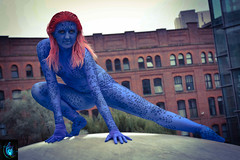 Mystique (Ibrahim D Photography) Tags: mystique xmen marvel marvelcomics blue cosplaygirls cosplay mcm mcmmanchester comiccon mutant manchester blueazul