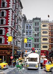 Spidey - City 1 (Klikstyle) Tags: lego spiderman diorama newyorkcity marvel peterparker blocks ironman vignette foitsop