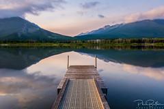 Vermillion Lakes Sunrise (philbutlerphoto) Tags: vermillion lakes banff national park canada alberta canadian water lake mirror dock reflection sky mountains colors glass nikon d7100 outdoors