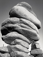 Cheesy Thing (Gram Joel Davies (see ablums)) Tags: bw blackandwhite monochrome object contrast stone monolith geology granite landmark cheesewring bodmin cornwall stack tower tor lava history historic local