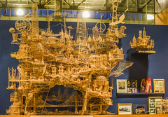 100,000 toothpick sculpture (pbo31) Tags: sanfrancisco california urban nikon d810 color august 2017 summer boury pbo31 city embarcadero 000yellowexploratoriumsf art model scale scottweaver rolling through bay toothpicks sculpture 100