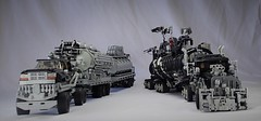 the War Rig and the People Eater's Limousine (Greeble_Scum) Tags: madmax lego warrig furyroad postapocalypse