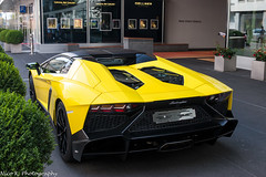 Roadster 50° Anniversario (Nico K. Photography) Tags: lamborghini aventador lp7204 roadster 50° anniversario yellow rare supercars nicokphotography switzerland zürich