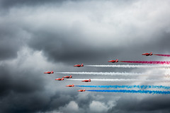 RAF Red Arrows Display Team (myfrozenlife) Tags: air raffairford jets aircraft england flight uk riat aeroplane raf fairford airshow fly planes royalinternationalairtattoo riat2017 cotswolddistrict unitedkingdom gb