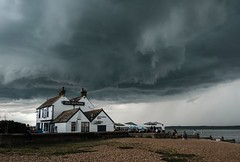 Storm Brewing (alsib) Tags: storm rainclouds weather windy kent whitstable scarycloud pub stormbrewing darkclouds outdoor landscape beach classicchrome fujifilmxt2 fujiholics
