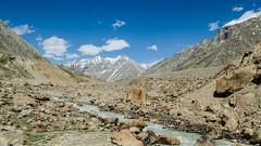 Barrenness (sakthi vinodhini) Tags: barren mountains landscape snow snowcapped river himalayas high altitude cold desert india incredible himachal pradesh spiti