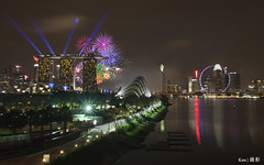 NDP Fireworks @Marina Barrage (Ken Goh thanks for 2 Million views) Tags: singapore flyer mbs laser lights night fireworks reflection landscape cityscape hdr lighting colorful colors pentax k5iis tamron 1750