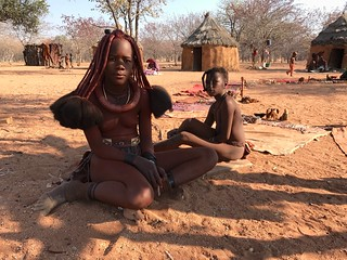 Himba Girls Damaraland Namibia Southern Africa