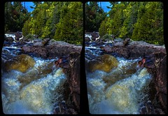 Ontario Cataract 3-D / Stereoscopy / CrossView / HDR / Raw (Stereotron) Tags: north america canada province ontario waterfall cascade cataract falls lake river creek tree plants outback backcountry wilderness indiansummer autumn fall crosseye crosseyed crossview xview cross eye pair freeview sidebyside sbs kreuzblick 3d 3dphoto 3dstereo 3rddimension spatial stereo stereo3d stereophoto stereophotography stereoscopic stereoscopy stereotron threedimensional stereoview stereophotomaker stereophotograph 3dpicture 3dglasses 3dimage twin canon eos 550d yongnuo radio transmitter remote control synchron kitlens 1855mm tonemapping hdr hdri raw 3dframe fancyframe floatingwindow spatialframe stereowindow window
