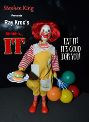 Shhhhh....IT - the Movie (trev2005) Tags: stephen king ray kroc ronald mcdonald mcdonalds it doll movie action figure