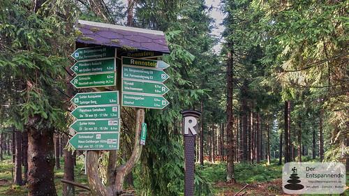 """""""Rennsteig-R"""": Wandern auf dem Rennsteig bei Oberhof"""