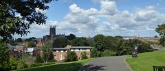 Worcester Cathedral. (jenichesney57) Tags: view worcester cathdral theneedle sun cloud sky pathh trees hedges plants sceneofbattlehistoricalpanasonic lumi houses churches grass bench shadows