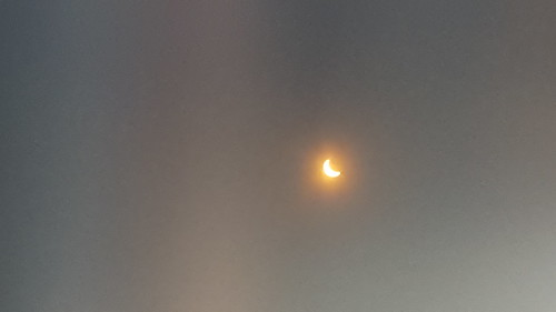 Eclipse in Key West (taken through my eclipse glasses)