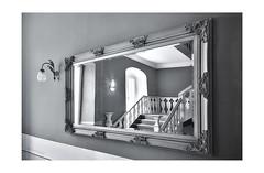 Spieglein, Spieglein an der Wand... (rafischatz... www.rafischatz-photography.de) Tags: mirror stairs bw reflection