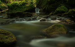 Great Things from Small Beginnings. (+Lonnie & Lou+) Tags: ohio nature travel waterfall sony nisi creek landscape waterscape summer autumn forest great water longexposure boulders
