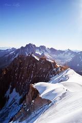 View from Aiguille du Midi, Chamonix, France. (Arisu Saktos) Tags: france alps aiguilledumidi mountains snow montblanc chamonix hiking climbing mountaineering nikon