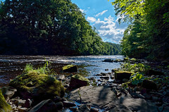 River Hodder (scottprice16) Tags: england lancashire river riverhodder hoddervalley landscape view water rocks trees clouds sun summer august moss green blue leica leicaxvario beauty calm peaceful relaxing