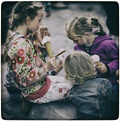 Summertime Impressions (Fouquier ॐ) Tags: color kids icecream flowers play street people eplored explore