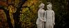 An Ancient Farewell (- cornuspixels -) Tags: baroque sculpture palace garden ancient greek historical autumn green yellow leaves tree canon eos 20d panoramic cornuspixels